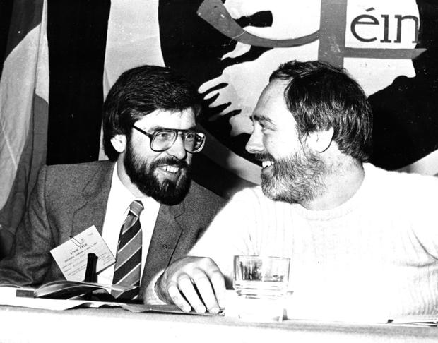 Current Sinn Fein President Gerry Adams (left) and former republican publicity chief Danny Morrison