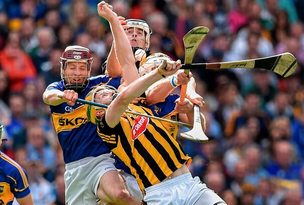 Action from the drawn All-Ireland hurling final
