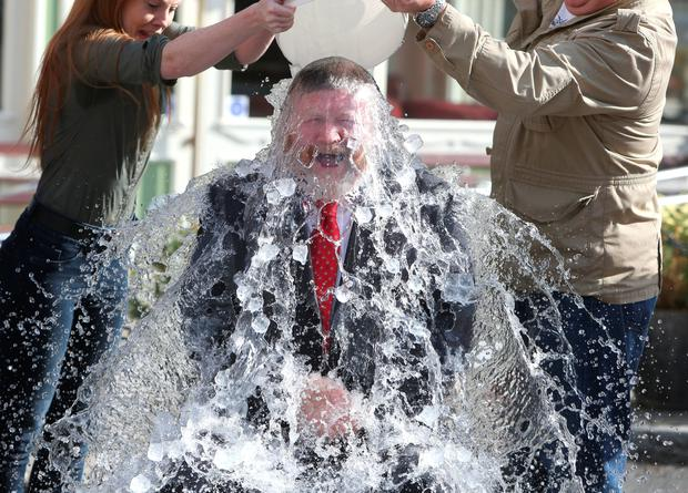 Minister James Reilly's ice bucket challenge