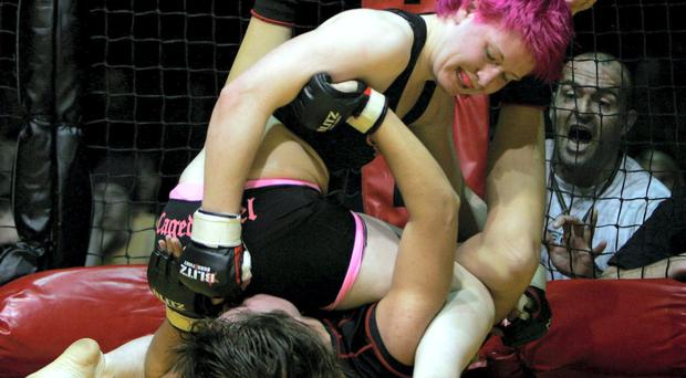 Aisling Daly fighting