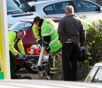 Scene of a crash where three pensioners were knocked down