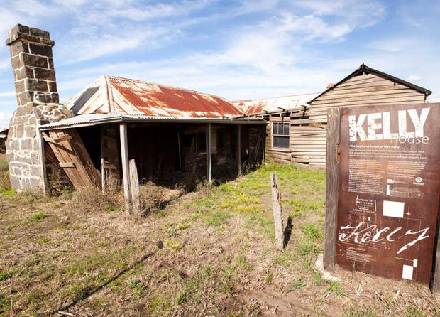 HOMESTEAD: The two-room shack at Beveride, above, which was home to Australian outlaw Ned Kelly,