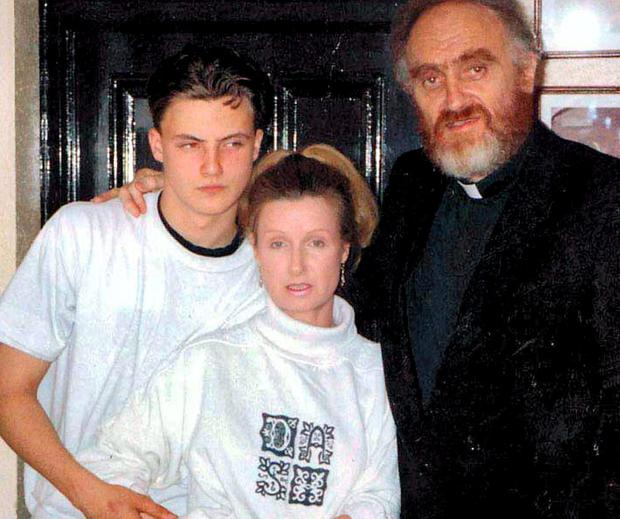 Ross Hamilton, his mother Phyllis and father Michael Cleary