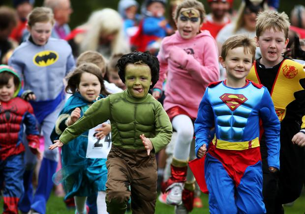 'Hulk' Joe Joyce (5) from Tallaght in Dublin, leads the Superhero race.