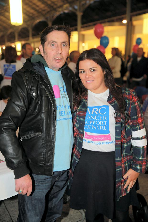 Christy Dignam and his daughter Kiera.