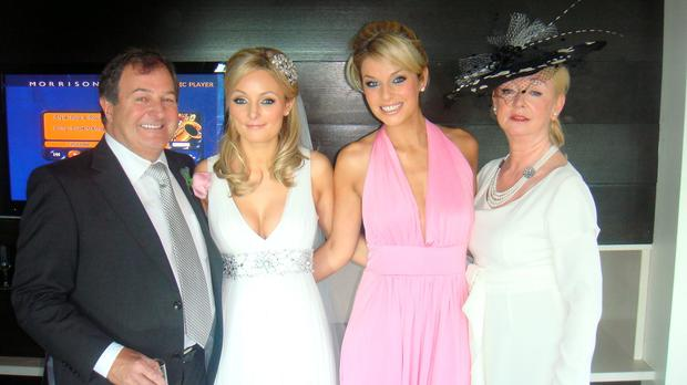 Pippa O'Connor and her mum, Louise Mullen, right.