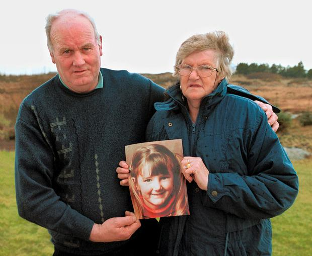 Charlie and Ann Boyle with a picture of their daughter Mary. Photo: Crispin Rodwell