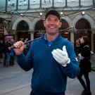 Padraig Harrington at the launch of 'An Evening With Padraig Harrington' in aid of ISPCC and The Padraig Harrington Charitable Foundation' at the Gaiety Theatre, Dublin, last night. Photo: Gareth Chaney