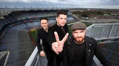 The Script band members Danny O'Donoghue, Glen Power and Mark Sheehan