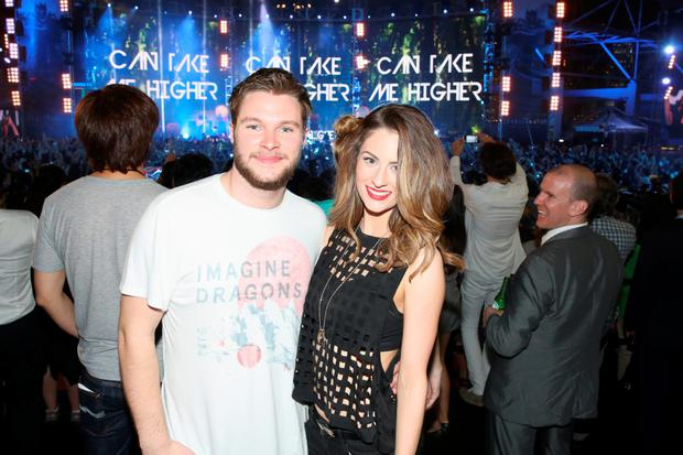 Jack Reynor and Madeleine Mulqueen at the Ocean Terminal Rooftop Car Park to celebrate the worldwide premiere screening of