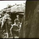 This photograph was taken in July/August 1916 at Ploegsteert Wood near Messines in Belgium.
