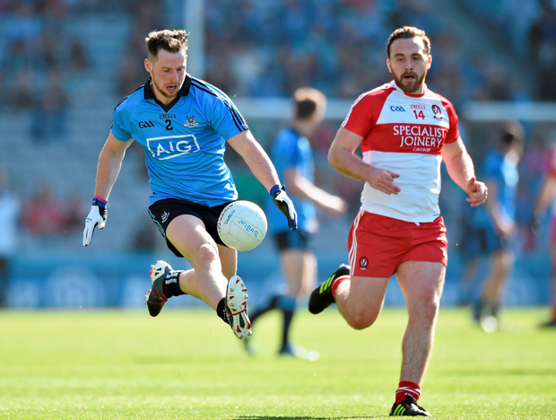 Philly McMahon in action for Dublin. Photo: David Maher