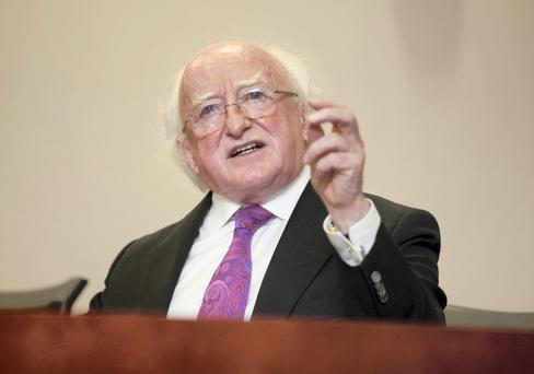 Michael D Higgins wrote to President Francois Hollande to express his condolences