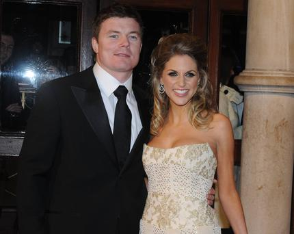 Brian O'Driscoll with his glamorous wife Amy Huberman.
