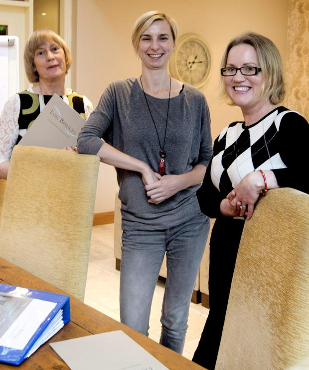TREATMENT: Dr Maire McLoughlin, psychologist Zuzanna Gajowiec and operations manager Lilly Molloy of Lois Bridges Eating Disorder Treatment Centre. Photo: David Conachy