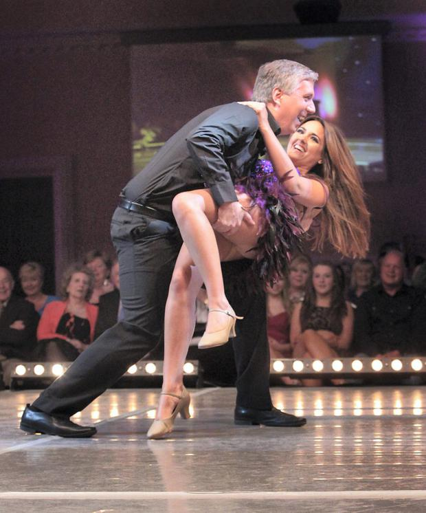 John Delaney in a dance event with Nadia Forde