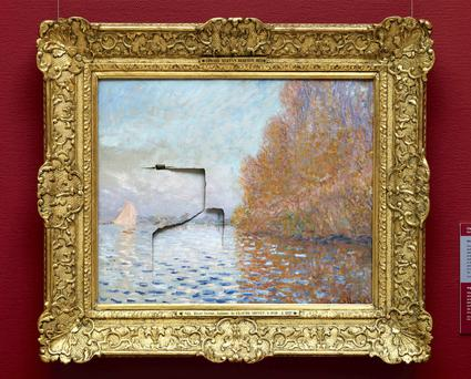 the damage he caused to the Monet painting