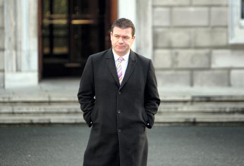 Alan Kelly at Leinster House. Photo: Tom Burke