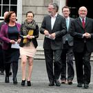 Sinn Fein members at Leinster House