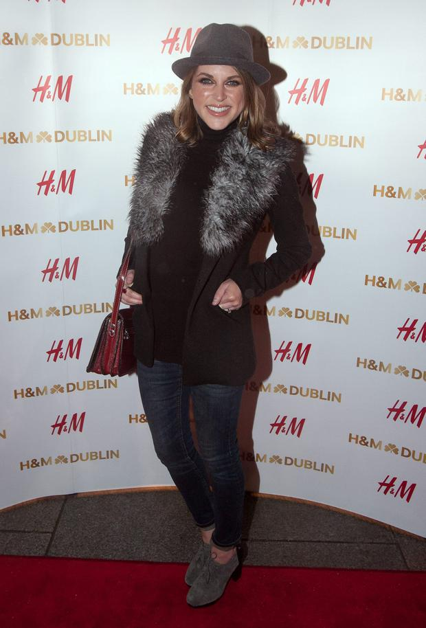 Amy Huberman at the H&M store in Dublin last night. Photo: Gareth Chaney