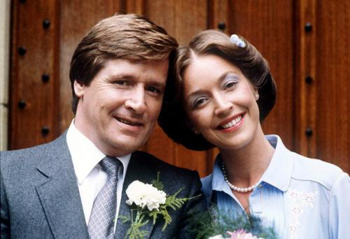 Bill Roache and Anne Kirkbride as Ken and Deirdre Barlow