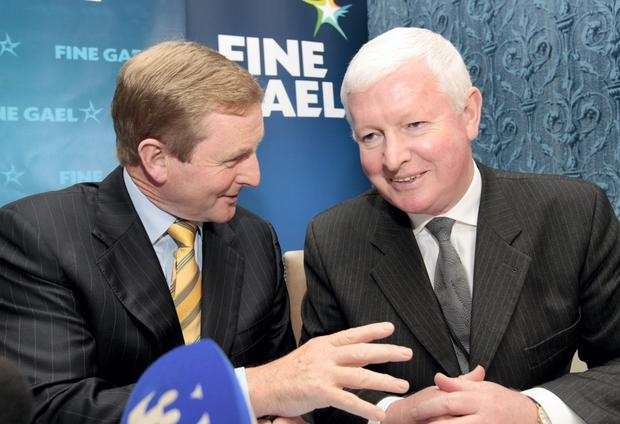 Enda Kenny and Frank Flannery