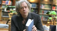 Bob Geldof in the National Library of Ireland
