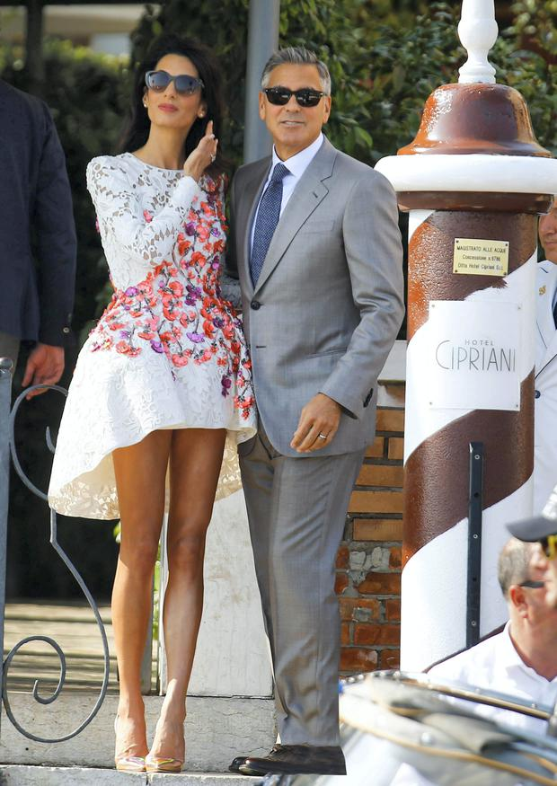 George and Amal Clooney in Venice in 2014.