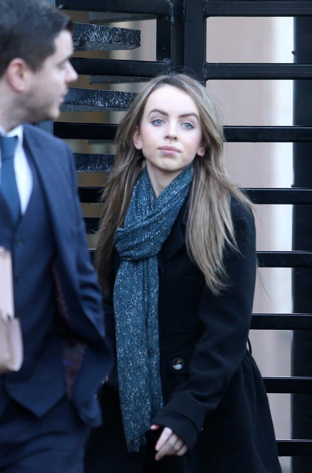 Orla O'Hanlon from Tievecrom Road, Forkhill leaves Newry Court yesterday