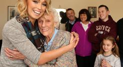 Stephanie Roche pictured with her grandmother Mamie. Photo: Gerry Mooney