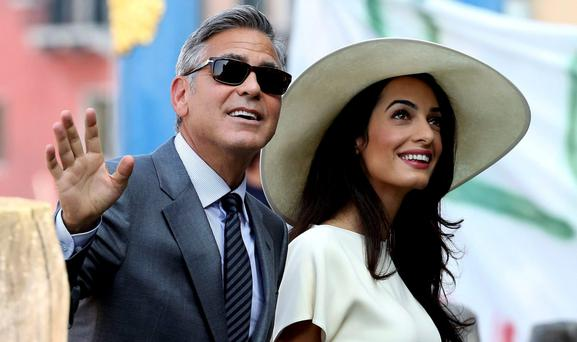George Clooney and his wife Amal