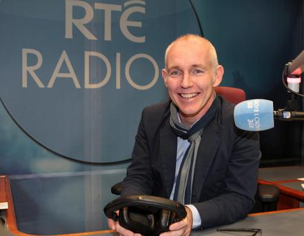 On air: Ray D'Arcy had Gay Byrne as his first guest on his new radio show. Photo: Brian McEvoy