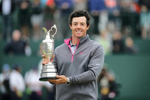 Rory McIlroy with the Claret Jug