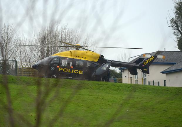 One of the shooting victims was airlifted to Enniskillen's South West Acute Hospital. Photo by Ronan McGrade