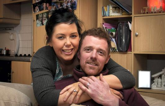 Husband and wife Kim Gregan-Fitzgerald and Tommy Fitzgerald, Ballymoney, Gorey, Co Wexford. Picture: Garry O'Neill