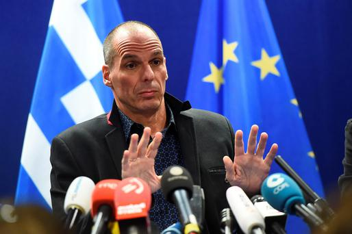 Greek Finance Minister Yanis Varoufakis in Brussels. Photo: Getty
