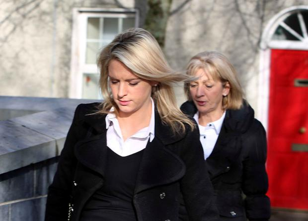 Kathleen Kenny (right) and her daughter Gillian arriving at Galway Court for the trial.
