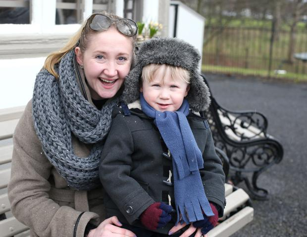 Alma Delany, from Julianstown, with her son Eamon. Photo: Damien Eagers