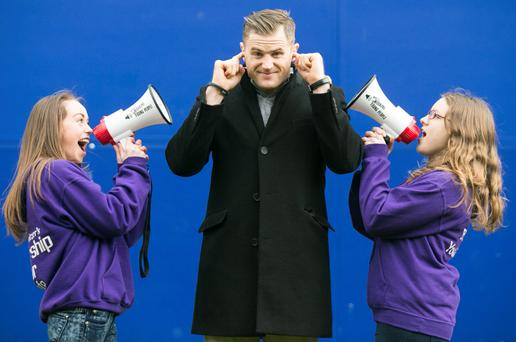 Rugby player Jamie Heaslip was on hand at the RDS to announce the partnership as Foroige Youth members got the word out, they are Lauren Fowler Blanchardstown and Leah McCann from Balbriggan.