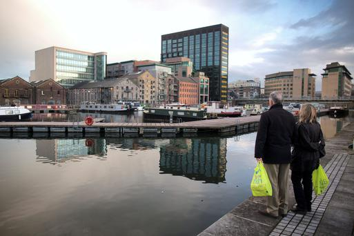 The Grand Canal area of Dublin. Pic: Bloomberg