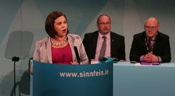 Mary Lou McDonald speaks at the Sinn Féin Ard Fheis in Derry. Photo: Mark Condren