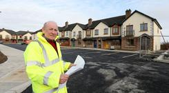 Developer Sean Rooney in the Asc Aill Rois estate in Carrickmacross. Picture; GERRY MOONEY. 4/3/15