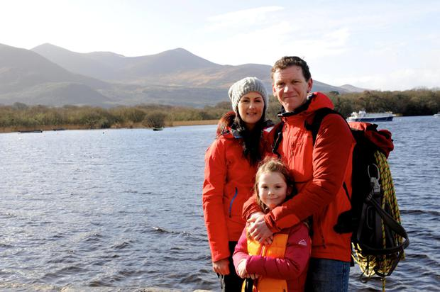 Piaras Kelly and his wife Catherine and daughter Orlaith from Killarney. Photo: Sally MAcMonagle