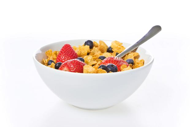 Breakfast cereals can be high in sugar