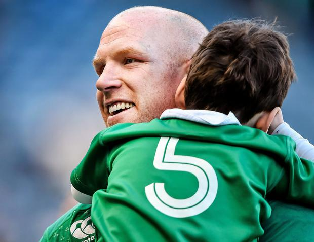 Paul O'Connell and his son Paddy