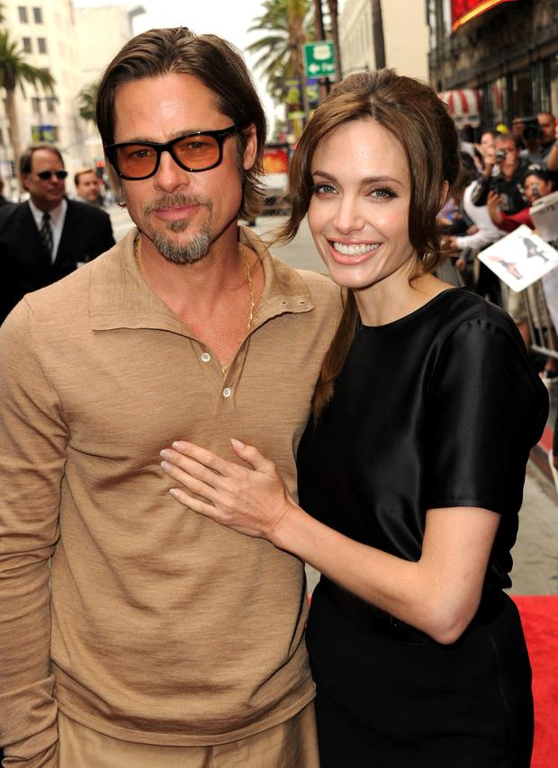 Brad Pitt and Angelina Jolie in 2011