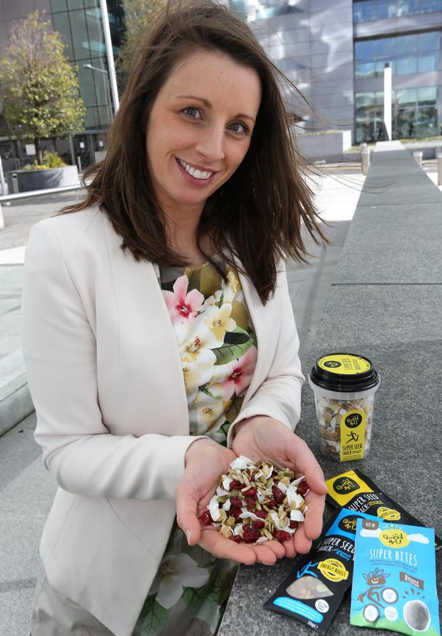 Laura O'Sullivan, markeing director of Good4U at the Convention Centre in Dublin yesterday. Photo: Gary O'Neill