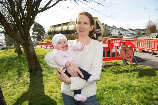 Rhoda Keher and her daughter Grace in the Moyola Park estate in Galway