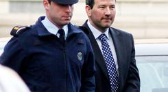Cocky: Graham Dwyer (on the right)