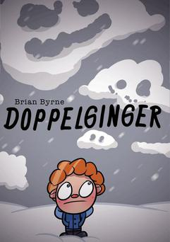 The cover of Brian Byrne's self-published novel Doppelginger